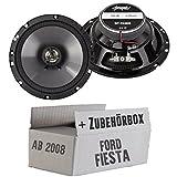 Lautsprecher Boxen Spectron SP-N26X | 16cm 2-Wege Koax Auto Einbauzubehör - Einbauset für Ford Fiesta MK7 Front Heck - JUST SOUND best choice for caraudio