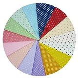 15 Stück große 40 cm x 50 cm Punkte Muster Baumwolle