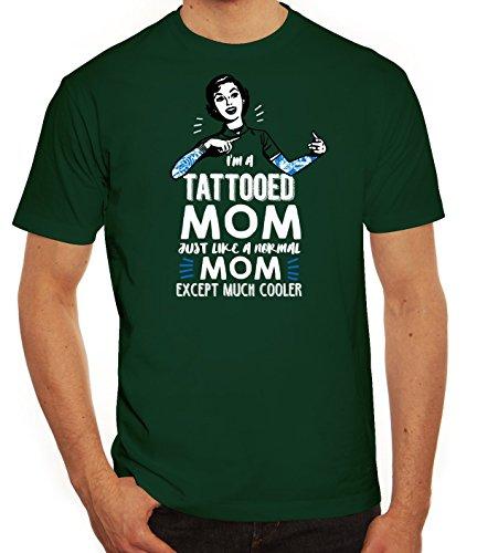 Muttertag Herren T-Shirt mit Tattooed Mom Motiv von ShirtStreet Dunkelgrün