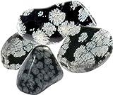ILHORIN ESOTERISME Pierre roulée Obsidienne mouchetée ou Flocon de Neige - la pièce