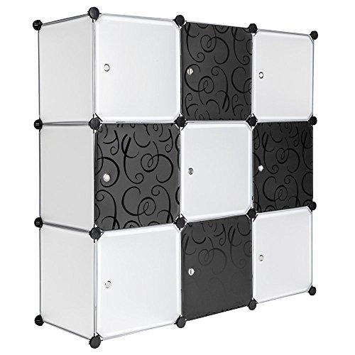 Regalsystem Garderobenschrank Wäscheschrank Steckschrank Kleiderschrank Aufbewahrung Kapazität 450L