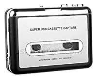 Portable Cassette Tape to PC/MP3 Converter Capture Adapter Digital Audio Music Player With Earphones AiteFeir