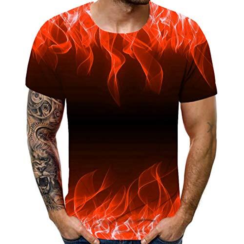 ex 3D Druckten Sommer-beiläufige Kurze Hülsen-T-Shirts T-Stücke Herren T-Shirts 3D Muster Kurzen Ärmels Kurzarm Shirt Sport Fitness T-Shirt Rundhalsausschnitt Lässige Graphics Tees ()