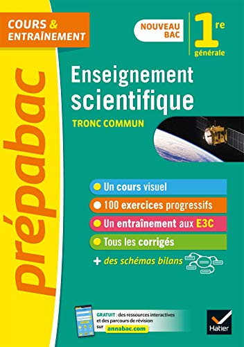 Enseignement scientifique 1re (tronc commun) - Prépabac: nouveau programme de Première 2019-2020