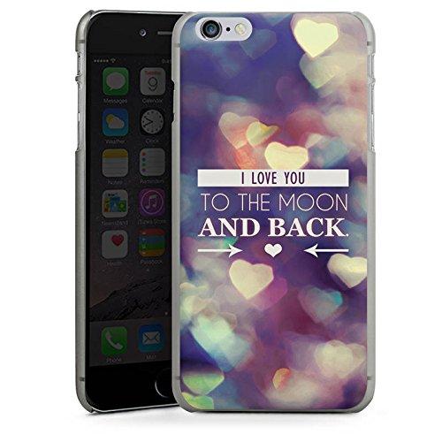 Apple iPhone X Silikon Hülle Case Schutzhülle Valentinstag Geschenk Liebe I love you Hard Case anthrazit-klar