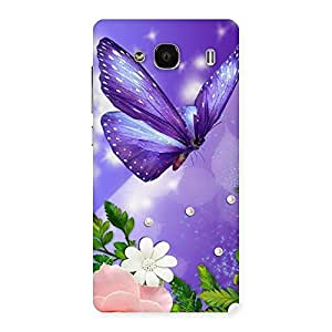 Purple Butterfly Back Case Cover for Redmi 2s