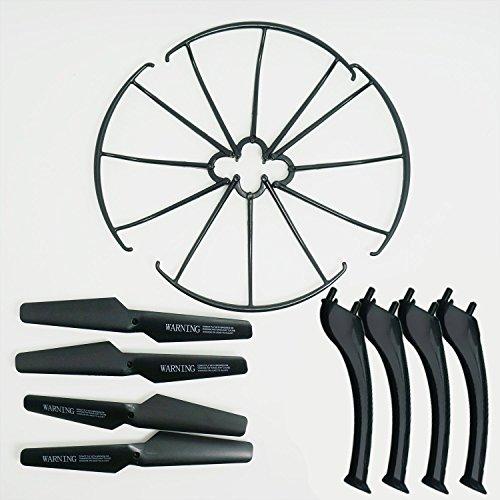 KidsHobby® Upgraded 4 Farben Syma X5SC X5SW Ersatzteil-Hauptblatt-Propeller und Propeller Schützer Blades Frame & Landing Skid inklusive - 2