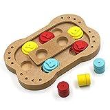 Intelligentes Spielzeug für Hunde und Katzen, von Lenhart Pet, interaktive Futterstelle für Hunde-Leckerli, Holzfutternapf mit Futter-Puzzle, -Versteckspiel