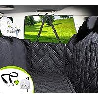 Hundedecke für Auto Rückbank. Wasserdicht! Komplettschutz Comfort Autoschondecke für Hunde, Wasserfester Rücksitz Sitzbezug, ideale Autodecke für Haustiere, Schonbezüge Decke + 2 Geschenke enthalten!