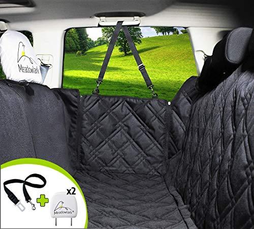 Meadowlark Hundedecke für Auto Rückbank. Wasserdicht! Komplettschutz Comfort Autoschondecke für Hunde, Wasserfester Rücksitz Sitzbezug, ideale Autodecke für Haustiere, Schonbezüge Decke +2 Geschenke