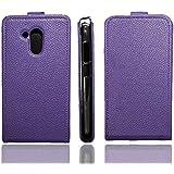 caseroxx funda tipo libro para Acer Liquid Z500, Carcasa con flip para el smartphone (flip case en lila)