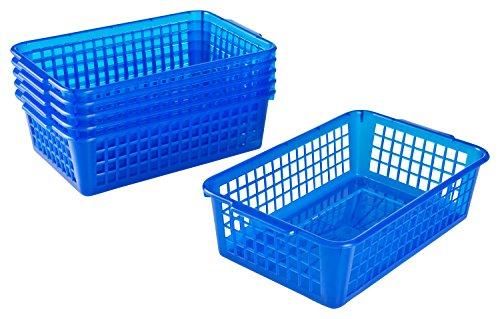 Kigima Haushaltskorb Allzweckkorb 6er Set 1,8l 25x16x7 cm Blau