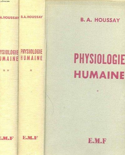 PHYSIOLOGIE HUMAINE par COLLECTIF