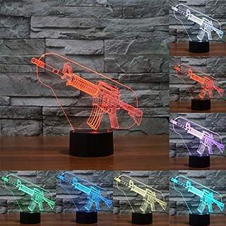 I will take action now Nachtlicht der Stereolithographie 3D, zum des Freundes zum kreativen Schlafzimmernachttischlicht des Maschinengewehrgeburtstagsgeschenks des Herzens zu schicken I will take acti