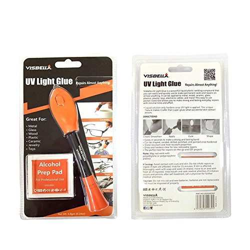 Alftek UV-Licht Kleber Kit Klar Klebstoff Flüssige Kunststoff Welder 5 Sekunden Reparatur Kleber Werkzeug