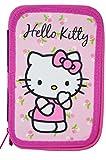 Hello Kitty-Astuccio 2zip, riempito Dimensioni: 20,0x 13,0x 3,0cm.