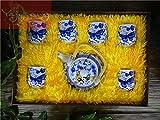 Yajutang China Porzellan Chinesische Tee-Sets 1 Teekanne+6 Teetassen Schmetterling Motiv P0071