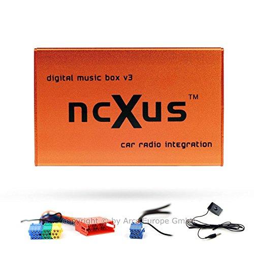 Preisvergleich Produktbild ncXus V3 Pro 8-Pin + 20-Pin Verteiler USB SD MP3 CD Wechsler Interface für VW AUDI SKODA SEAT mit Bluetooth A2DP