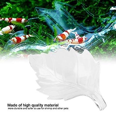 Pssopp Aquarium Acryl Futternapf Shrimp Feeding Dish Bowls Acryl Garnelen Futternapf Blattförmige Feeder Aquarium Zubehör für Garnelen Essen Reptilienwürmer(S)