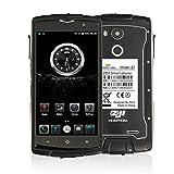 HOMTOM ZOJI Z7 4G Smartphone Ohne Vertrag 5.0 Zoll CNC-Metallrahmen IP68 Wasserdicht Stoßfest Staubdicht Quad Core Dual SIM 2GB RAM+16GB ROM 13MP+5MP Kameras GPS Dick Android 6.0 Fingerabdrucksensor(Schwarz)