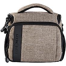 Bolsa Bandolera para Cámara Réflex - K&F Concept Funda para cámara de fotos réflex (1 cámara + 1 lente + accesorios, tamaño mediano), con tapa lluvia y correa de hombro