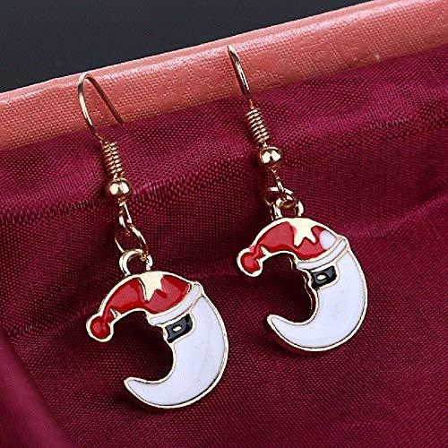 Frau Claus Hat - XIANNU Damen-Hängeohrringe,Weihnachten Ohrringe Anhänger Weihnachten Spielzeug