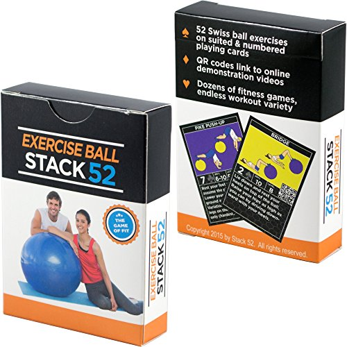 Stack-52-Exercise-Ball-Fitness-Cards-Swiss-Ball-Workout-Playing-Card-Game-Video-Instructions-Included-Bodyweight-Training-Program-Balance-Stability-Balls-Get-Fit-at-Home