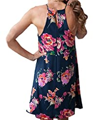 vestidos, Sannysis falda mujer floral vestidos de fiesta cortos