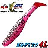 "Relax Kopyto 4L 4"" Classic Gummifisch 11cm Pink Bubblegum Kristall Glitter RT 5 Stück im Set"