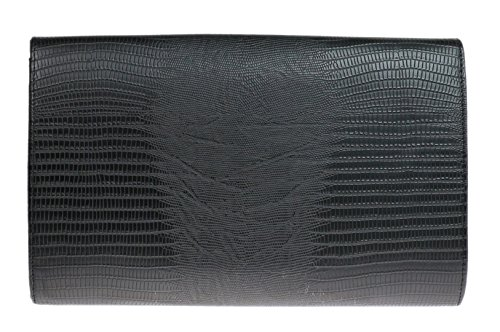 Girly HandBags Animale Impronta Sera della Busta del Sacchetto di Frizione delle Signore Azzurro Marrone Nero Metallo Nero