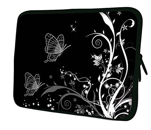7.9Design ipad Mini/iPad Mini 2/iPad Mini 3Custodia morbida Borsa Pelle. Vestibilità perfetta. Diversi modelli disponibili. (parte 1di 3) Butterflies Artwork (B&W)