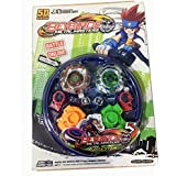 Toykart 4 Metal Beyblades With Led Lights And 4 Launchers 1 Big Beyblade Stadium And 2 Spring Action Launcher - Multi Color