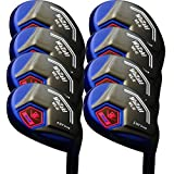 Japan WaZaki Black Oil Finish WL-IIs 4-SW Mx Steel Hybrid Irons Golf Club
