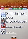 Statistiques pour psychologues: Analyses descriptives