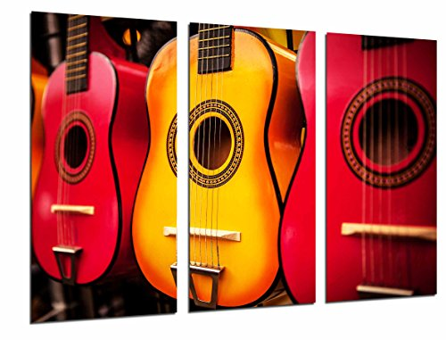 Imagen de cuadro moderno fotografico  españolas de colores anaranjados , flamenco, 97 x 62 cm, ref. 26745