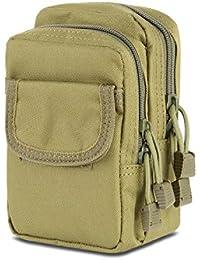 Liangdongshop Multipurpose Double Zipper Molle Tactical EDC Utility Gadget Pouch Waist Bag(Army Green)