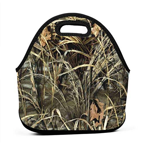 Realtree Camo Wallpapers Logo Portable Lunch Bags,Reusable Picnic Bag -for Adults, Women, Girls, School Children - Suitable for Travel, Picnic, Office (Small) -