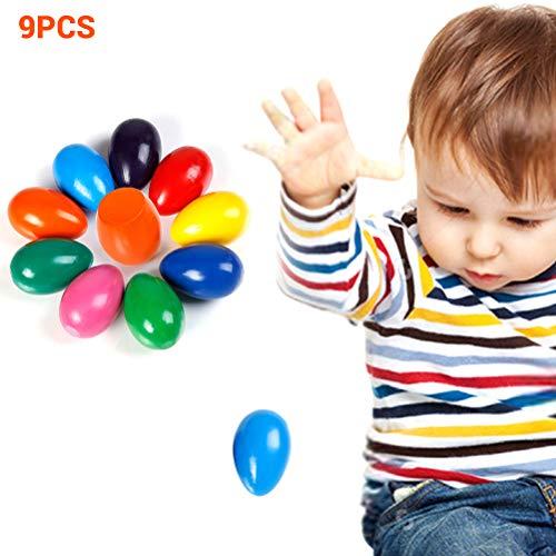 Egosy Painting Egg Crayon Waschbar Sicher und Ungiftig Kreativ 9 Farben Kunst Liefert Kreativ für Säuglinge, Kinder, Babys, Jungen und Mädchen (Kunst Liefert Für Kleine Mädchen)