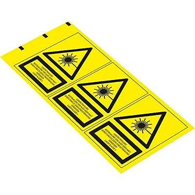 LEMAX® Warn-Kombischild Laserstrahlung# Laser Klasse 4, DIN, Folie, 70x50mm, 3/Bogen