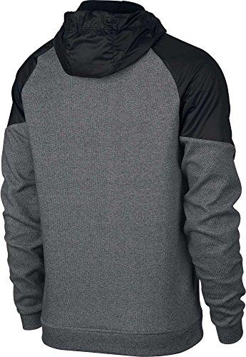 Nike Herren Sportswear Advance 15 Hoodie Fz Ssnl Kapuzenpullover Charcoal Heathr/Black/White