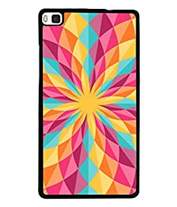 PrintVisa Designer Back Case Cover for Huawei P8 (Jaipur Rajasthan Tribal Azitec Mobiles Indian Traditional Wooden)