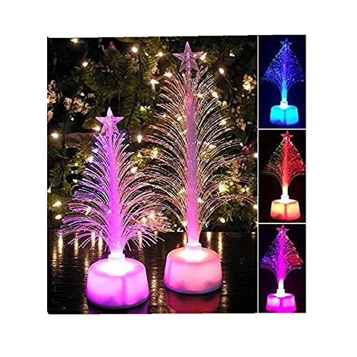 ODJOY-FAN LED Bunt Blitz Weihnachtsbaum Klein Nachtlicht LED Farbe Ändern Mini Licht Zuhause Lichter Zubehör Party Dekor Charme Lichterketten (12cm x 7cm) (Weiß,1 PC)