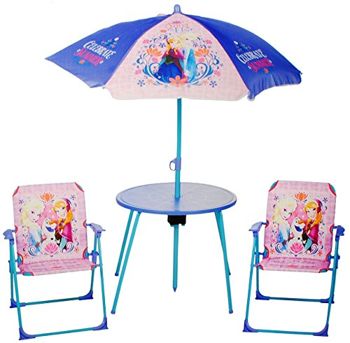 Set Tisch Sonnenschirm (4 tlg. Set: Sitzgruppe - Tisch + 2 Kinderstühle + Sonnenschirm -