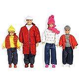 Lundby 60.8060.00 - Puppenfamilie in Winterkleidung, Minipuppen mit Zubehör