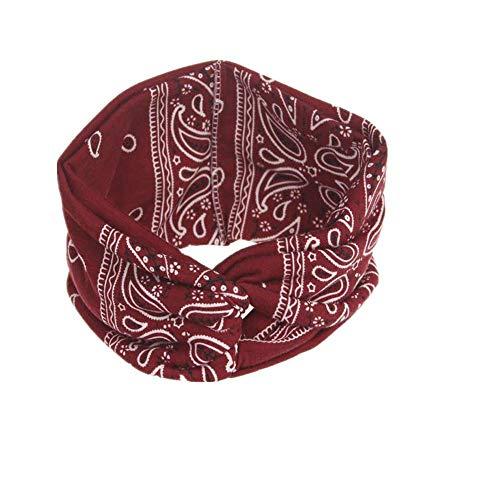 VRTUR Damen Sport Stirnband Schweißband Anti-Rutsch Kopf schweissband Haarband Stirnbänder Headband Atmungsaktiv für Rennen,Joggen,Volleyball,Yoga,Fitness,Radfahren(Einheitsgröße,Wassermelonenrot)