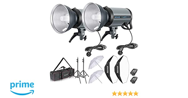 EU Professional Photo Studio Flash Strobe Lighting Light Stand Carry Case Bag