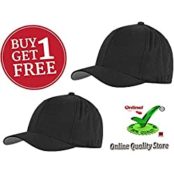 Cap black Color for Men's and Women's + Free 1 Cap ( Prime Offer for 2 days)