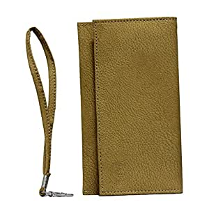 Jo Jo A5 G8 Leather Wallet Universal Pouch Cover Case For Motorola ATRIX HD MB886 Light Brown