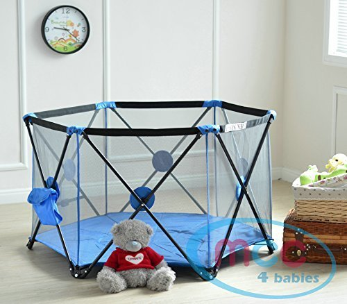 MCC Pop Up Playpen Portable Baby Play Yard Blue