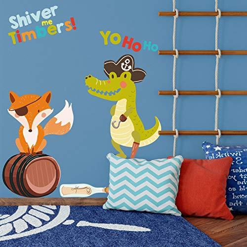 Piraten Fuchs und Alligator Wandtattoo Pack Piraten Wandtattoo Schatzinsel Wandtattoo Piraten Wandtattoo Kinderzimmer Dekor (Dekor Piraten-kinderzimmer)